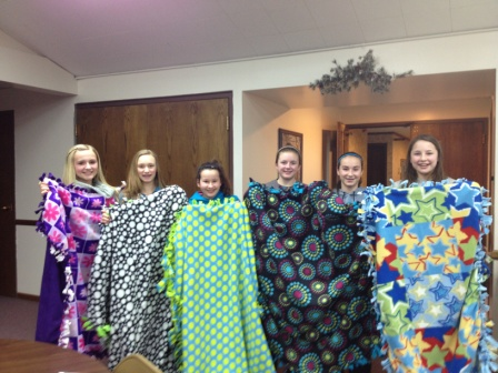 8th Grade Confirmation - Blankets for Hospice